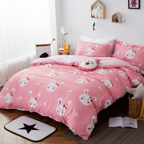 Sleepy Bunny 100 Cotton 3 Piece Duvet Cover Set