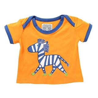 Rockin' Baby Zebra Orange Cotton Applique Tee