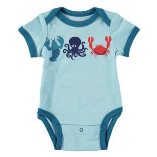 Rockin' Baby Sea Creatures Blue Cotton Applique Bodysuit
