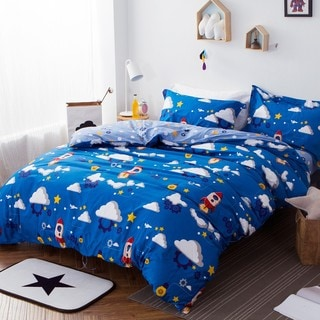 Space Tour 100% Cotton 3-piece Duvet Cover Set