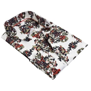 Rosso Milano Men's Printed Dress Shirt