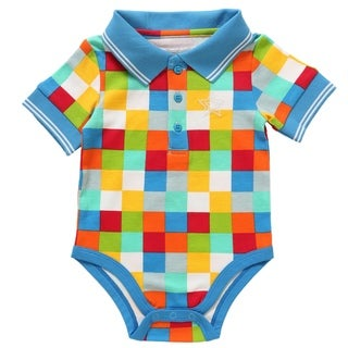 Rockin' Baby Boys' Multi Square Polo Bodysuit