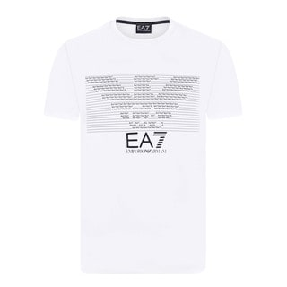 Armani Men's EA7 White T-Shirt (Option: White)