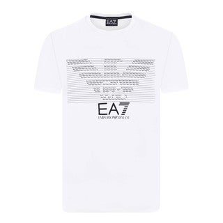 Armani Men's EA7 White T-Shirt