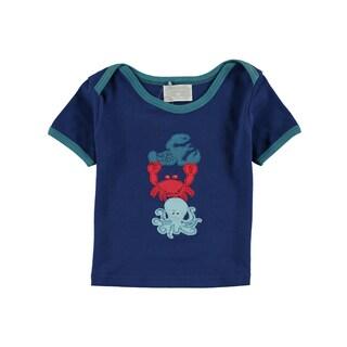 Rockin' Baby Infant Boys' Blue Sealife Applique Tee