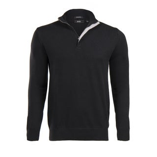 Hugo Boss Men's Black Half Zip Sweater