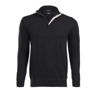 Hugo Boss Men's Black Half Zip Sweater|https://ak1.ostkcdn.com/images/products/14198632/P20794131.jpg?impolicy=medium