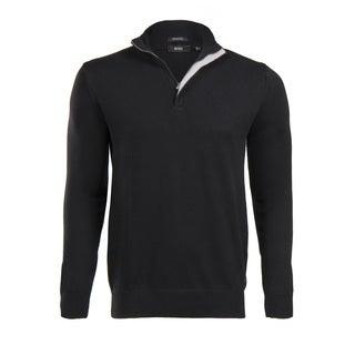 Hugo Boss Men's Black Half Zip Sweater