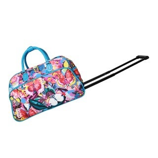 World Traveler Butterfly Tattoo 21-Inch Carry-on Rolling Duffel Bag