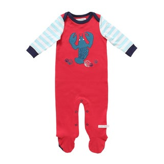 Rockin' Baby Lobster Applique Red, White, and Blue Cotton Footie