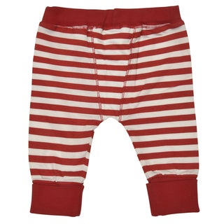 Rockin' Baby Red and White Cotton Crawlin' Leggings