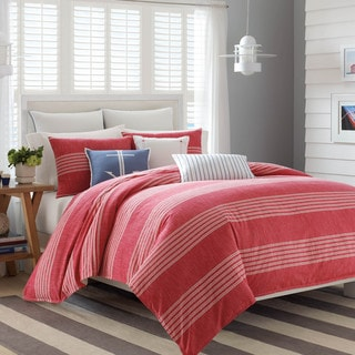 Nautica Trawler Red Duvet Cover Set