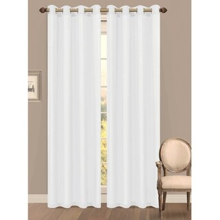 Window Elements Primavera Semi-Sheer 84-inch Grommet Curtain Panel - 55 x 84 (More options available)