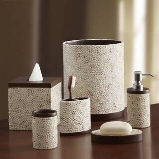 Croscill Mini Mosaic Bathroom CollectionWhite Bathroom Accessories   Shop The Best Deals for Dec 2017  . White And Grey Bathroom Accessories. Home Design Ideas