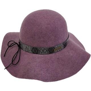 Hatch Hats Serpent Skin Packable Wide Brim 100-percent Wool Felt Floppy Hat