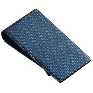Visol Blue Carbon Fiber Money Clip