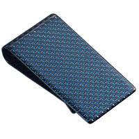 Visol Blue Carbon Fiber Money Clip