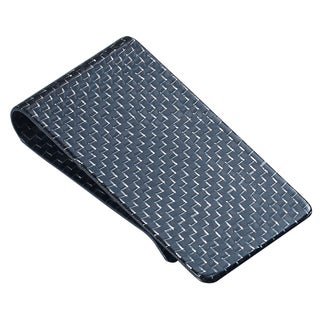 Visol Silver Carbon Fiber Money Clip
