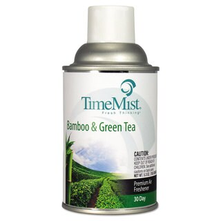 TimeMist Metered Aerosol Fragrance Dispenser Refill Bamboo/Green Tea 6.6-ounce Aerosol (Box of 12)