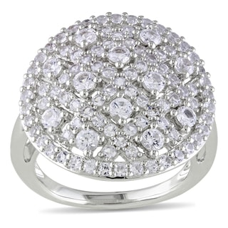 Catherine Catherine Malandrino Created White Sapphire Dome-Shape Lattice Ring in Sterling Silver