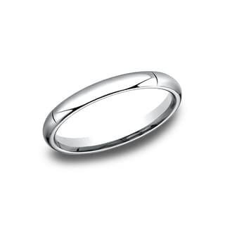 Platinum High-domed Comfort-fit Traditional Wedding Band