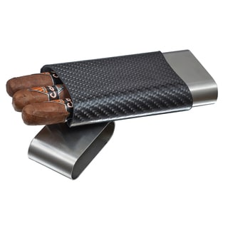 Visol Trumble Carbon Fiber and Stainless Steel Cigar Case