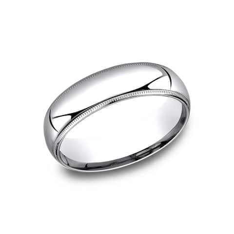6 mm Comfort-Fit Inside Comfort Fit Wedding Band
