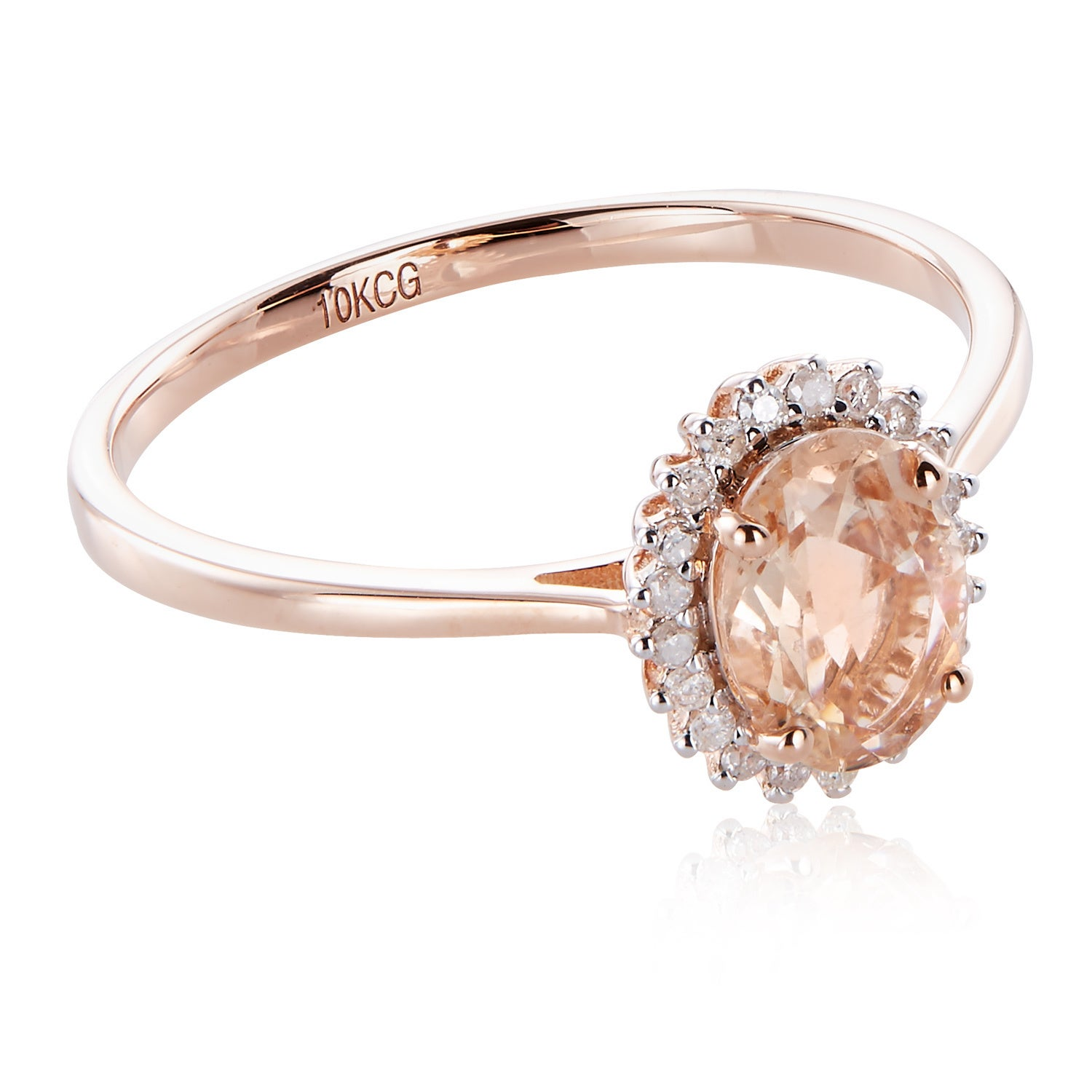 1//6 cttw, Size-5.5 Diamond Wedding Band in 10K Pink Gold G-H,I2-I3