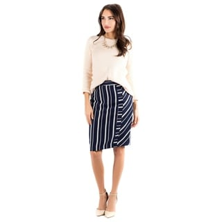DownEast Basics Women's Linear Lines Skirt