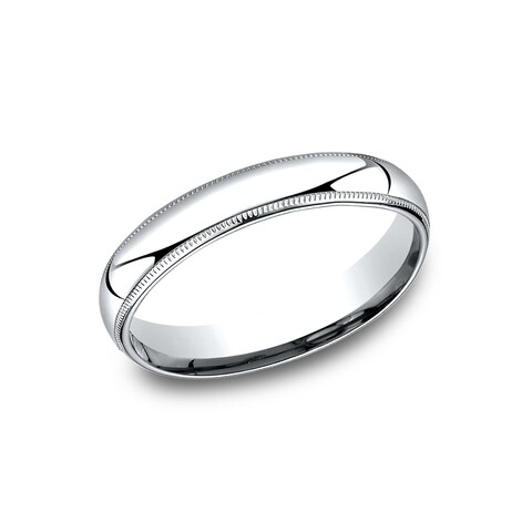 Men's 4 mm Comfort-Fit Inside Comfort Fit Wedding Band - Platinum