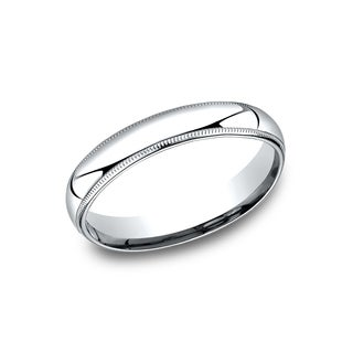 Men's 4 mm Comfort-Fit Inside Comfort Fit Wedding Band