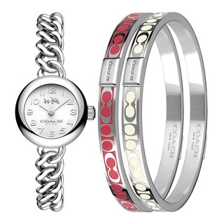 Coach Waverly Stainless Steel Women's Watch and Bangle Set