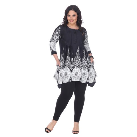 White Mark Women's Plus Size 'Dulce' Tunic Top