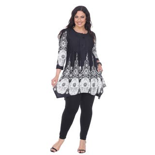 White Mark Women's Plus Size 'Dulce' Tunic Top|https://ak1.ostkcdn.com/images/products/14198882/P20794313.jpg?impolicy=medium