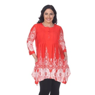 White Mark Women's Plus Size 'Dulce' Tunic Top (More options available)