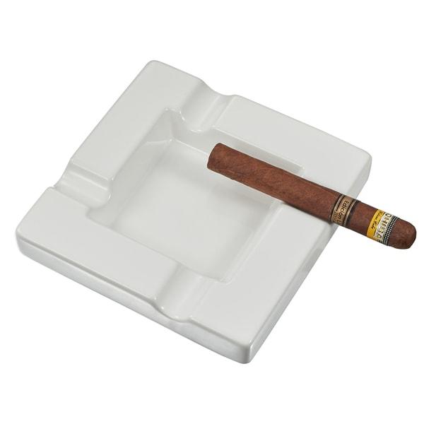 Visol Renner White Ceramic Cigar Ashtray