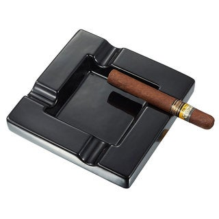 Visol Renner Black Ceramic Cigar Ashtray
