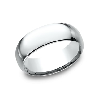Men's 8 mm Traditional Domed Profile Comfort Fit Wedding Band