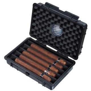 Visol Wendell Hard Plastic Travel Cigar Humidor - 5 Cigars
