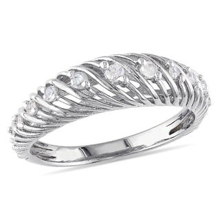 Catherine Catherine Malandrino 1/7ct TDW Twisted Anniversary Band in Sterling Silver