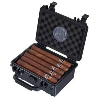 Visol Rider Hard Plastic Travel Cigar Humidor - 15 Cigars|https://ak1.ostkcdn.com/images/products/14198917/P20794346.jpg?impolicy=medium