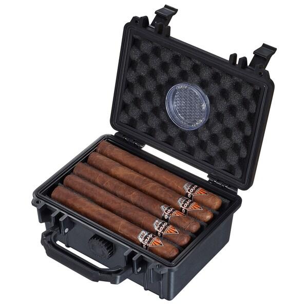 Visol Rider Hard Plastic Travel Cigar Humidor - 15 Cigars