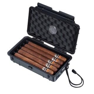 Visol Wyatt Hard Plastic Travel Cigar Humidor - 5 Cigars