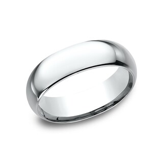 Men's 7 mm Traditional Domed Profile Comfort Fit Wedding Band