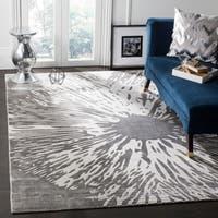 Safavieh Expression Contemporary Handmade Dark Grey Wool Rug - 9' x 12'