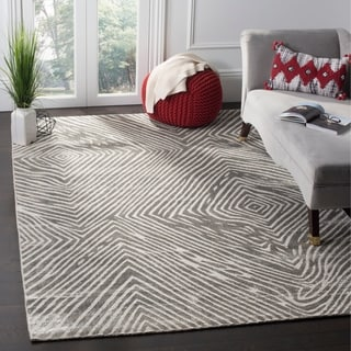 Safavieh Expression Contemporary Handmade Dark Grey Wool Rug (9' x 12')