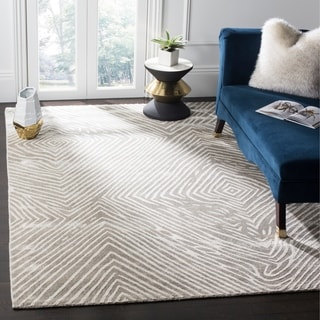 Safavieh Expression Contemporary Handmade Light Grey Wool Rug (9' x 12')