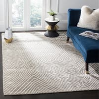 Safavieh Expression Contemporary Handmade Light Grey Wool Rug - 9' X 12'