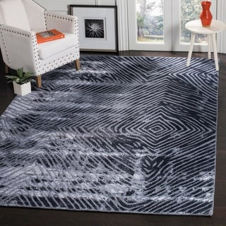 Safavieh Expression Contemporary Handmade Dark Blue Wool Rug (9' x 12')