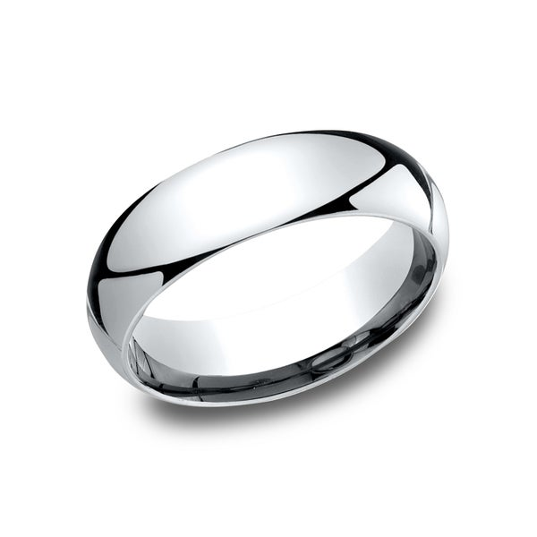 Men's 6 mm Traditional Domed Profile Comfort Fit Wedding Band